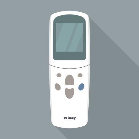 Icône de télécommande de conditionneur, style plat Vecteurs