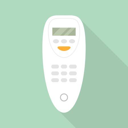 Plastic remote control conditioner icon. Flat illustration of plastic remote control conditioner vector icon for web design