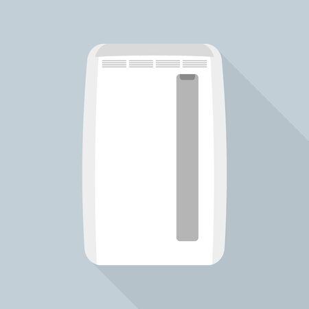 Indoor air conditioner icon. Flat illustration of indoor air conditioner vector icon for web design