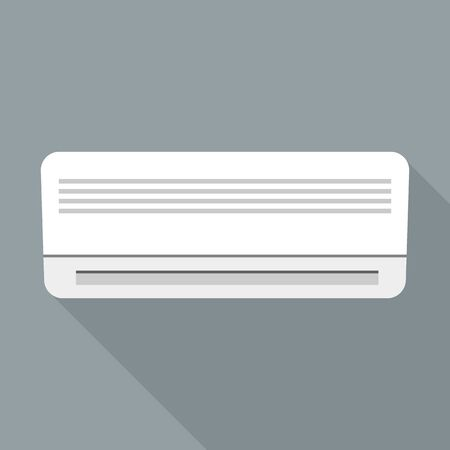 Hotel air conditioner icon, flat style Stock Illustratie
