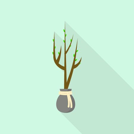 Tree for plant icon. Flat illustration of tree for plant vector icon for web design Vectores
