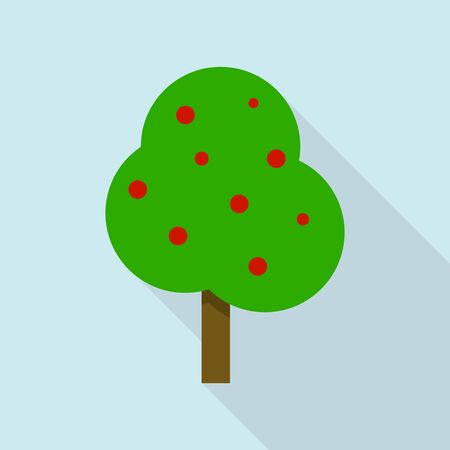 Apple tree icon, flat style