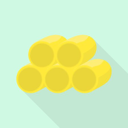 Wheat roll icon. Flat illustration of wheat roll vector icon for web design 向量圖像
