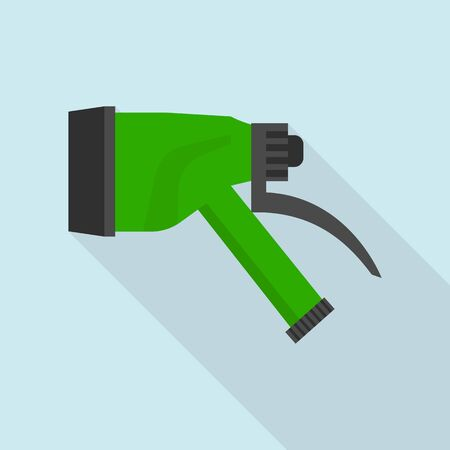 Water sprinkler icon, flat style
