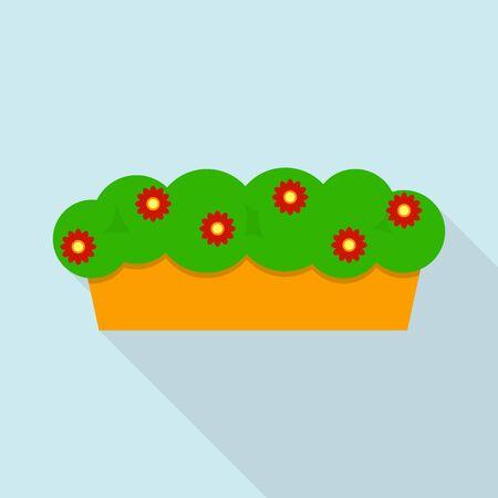 Flower house pot icon. Flat illustration of flower house pot vector icon for web design