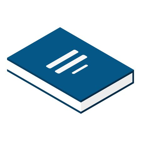 Investment book icon, isometric style