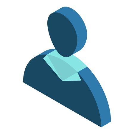 Avatar man icon, isometric style