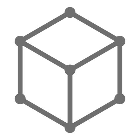Cube icon, isometric style