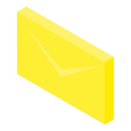 Envelope icon, isometric style Иллюстрация