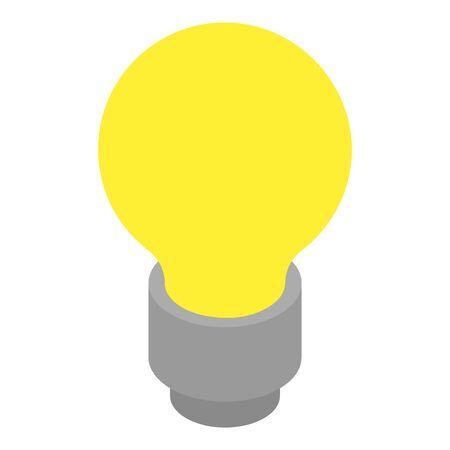 Light bulb icon, isometric style