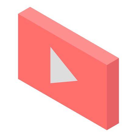 Internet video icon, isometric style