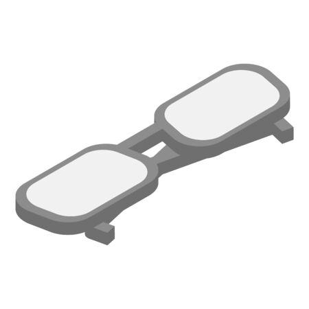 Glasses icon, isometric style Иллюстрация