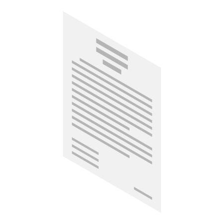 Written verdict icon, isometric style