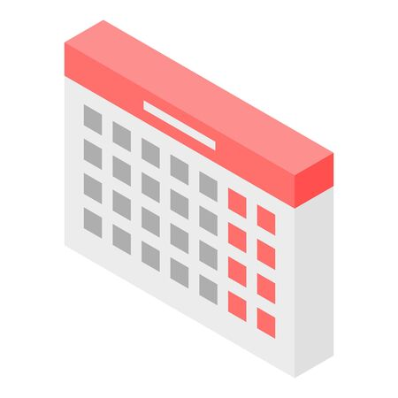 Forensic calendar icon. Isometric of forensic calendar vector icon for web design isolated on white background