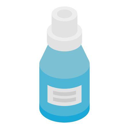 Blue medicine bottle icon. Isometric of blue medicine bottle vector icon for web design isolated on white background