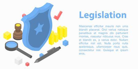Legislation concept banner, isometric style Иллюстрация