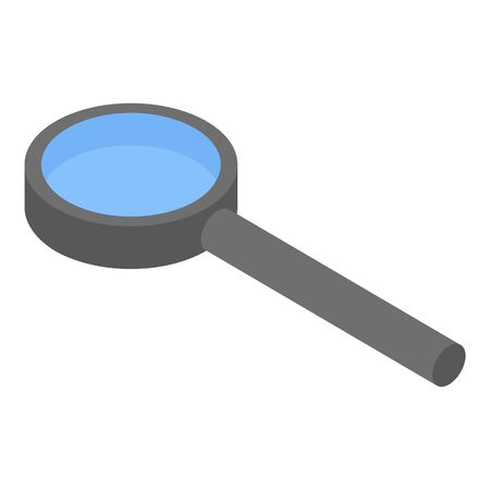 Magnifying glass icon, isometric style