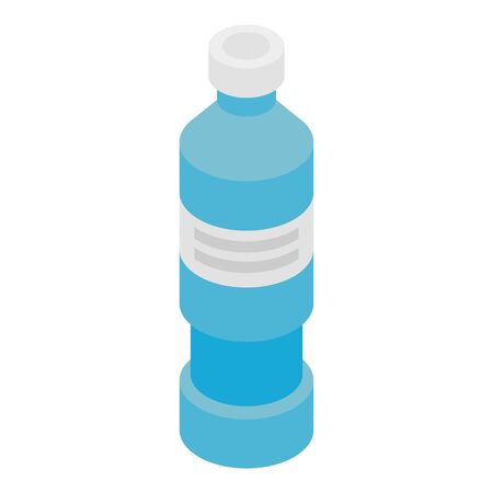 Tall medicine bottle icon, isometric style