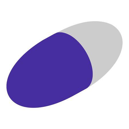 Vitamin Capsule icon, isometric style