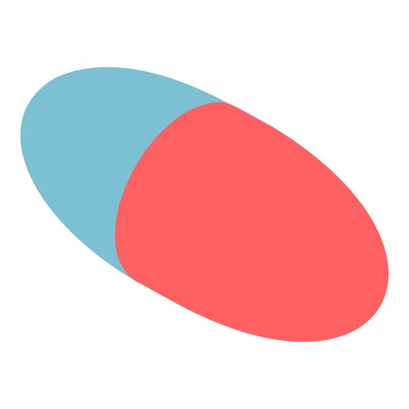 Aspirin capsule icon, isometric style Illusztráció
