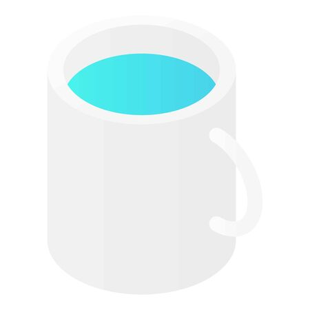 Mug with blue liquid icon, isometric style Фото со стока - 129888140