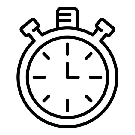 Analog stopwatch icon, outline style