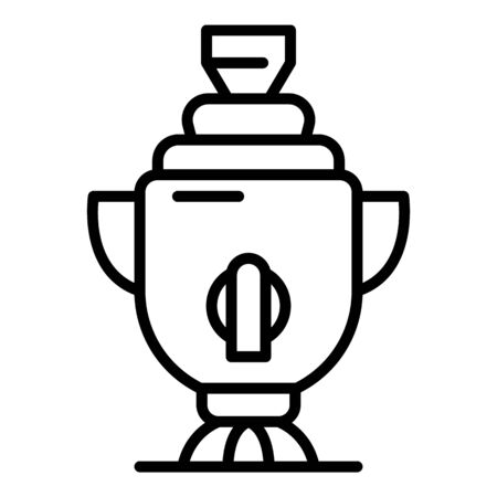 Russian samovar icon, outline style