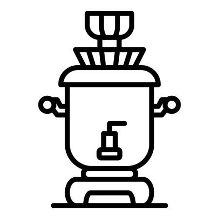 Classic samovar icon, outline style