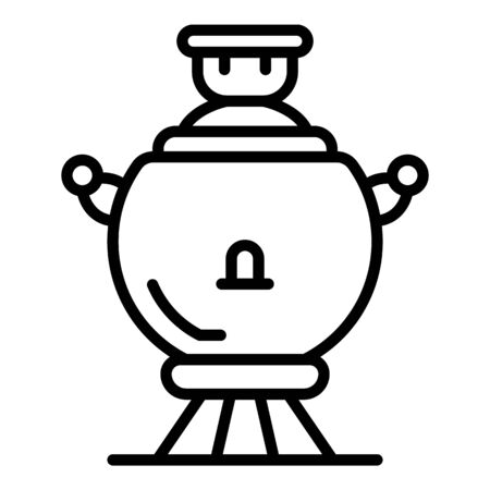 Ancient samovar icon, outline style