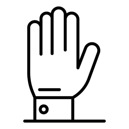 Protest hand icon, outline style Çizim