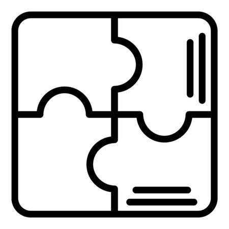 Puzzle scheme icon, outline style Иллюстрация