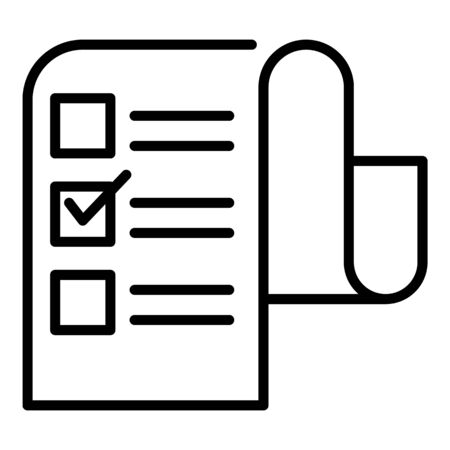 Long checkbox list icon. Outline long checkbox list vector icon for web design isolated on white background