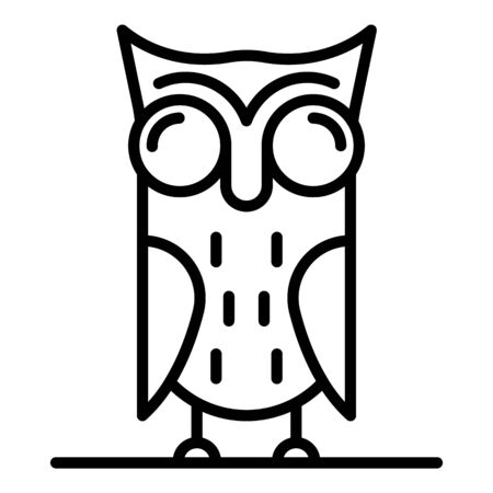 Owl icon. Outline owl vector icon for web design isolated on white background