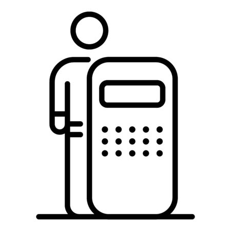 Police man shield icon. Outline police man shield vector icon for web design isolated on white background Ilustración de vector