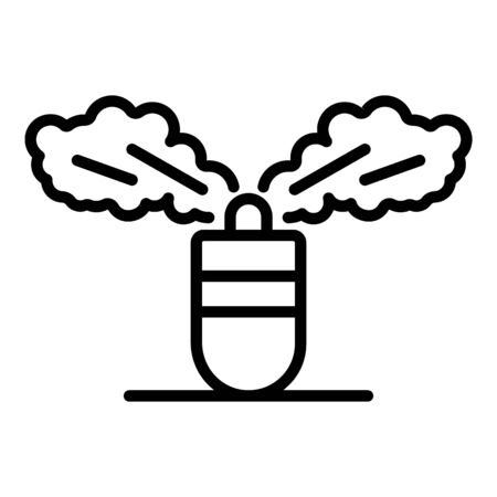 Gas grenade icon. Outline gas grenade vector icon for web design isolated on white background