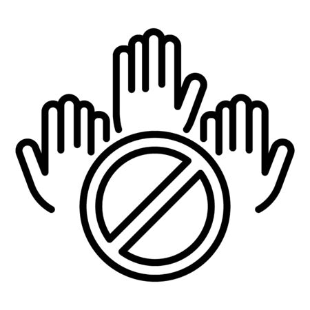 People hands protest icon. Outline people hands protest vector icon for web design isolated on white background