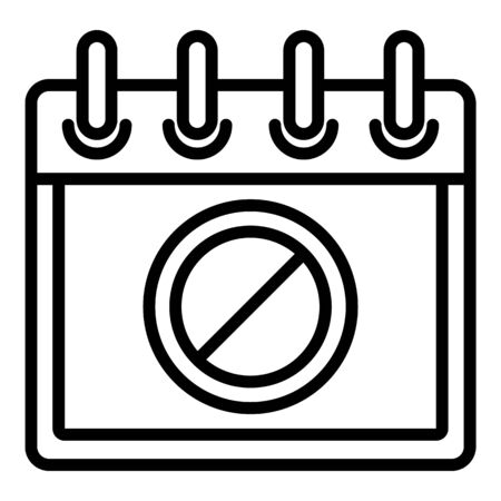 Protest calendar date icon. Outline protest calendar date vector icon for web design isolated on white background