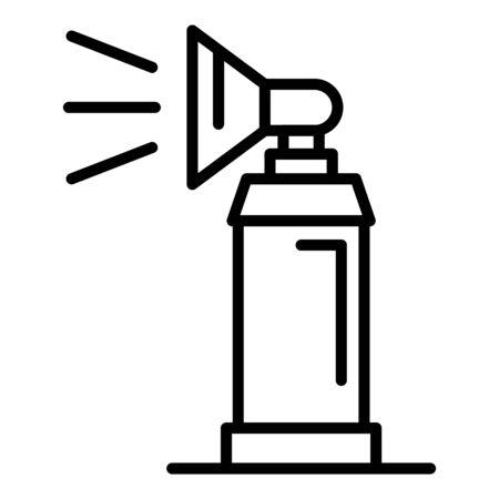 Signal balon sprayer icon. Outline signal balon sprayer vector icon for web design isolated on white background