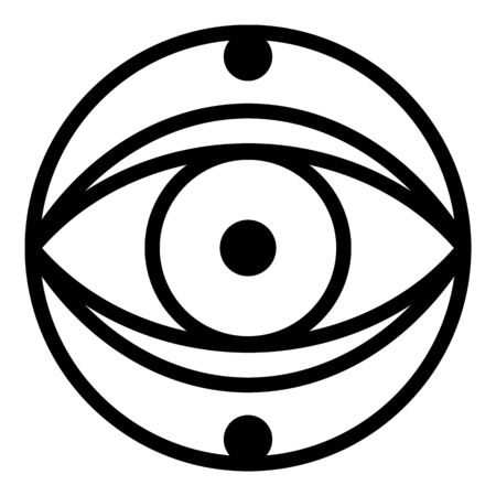 Mystery eye icon, outline style