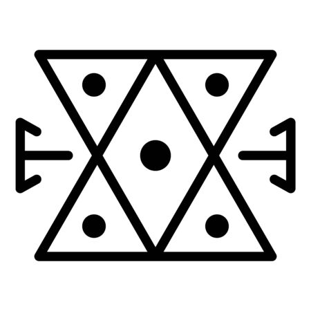Medieval alchemy icon, outline style