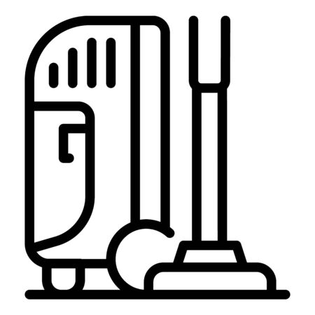 Vacuum cleaner icon. Outline vacuum cleaner vector icon for web design isolated on white background