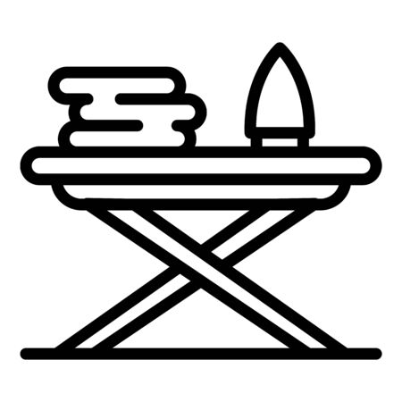 Ironing board icon, outline style