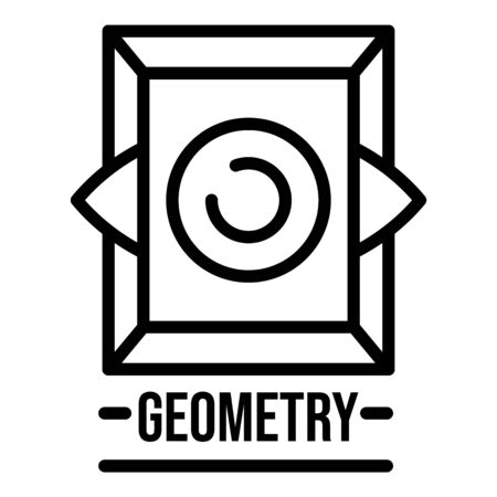 Sacred geometry icon, outline style