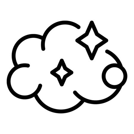 Cleaning foam icon, outline style
