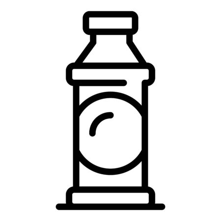 Cleaning bottle icon, outline style