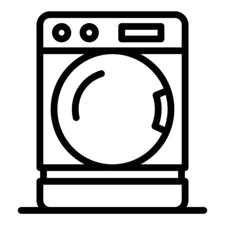 Washing machine icon, outline style Иллюстрация