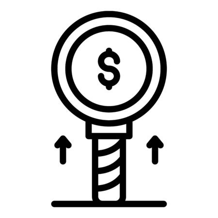 Money investor icon, outline style  イラスト・ベクター素材