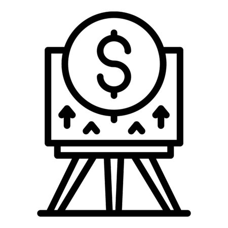 Investor money presentation icon, outline style
