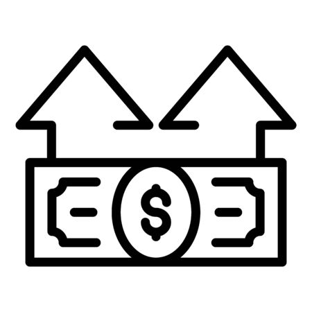 Money banknote investor icon, outline style  イラスト・ベクター素材