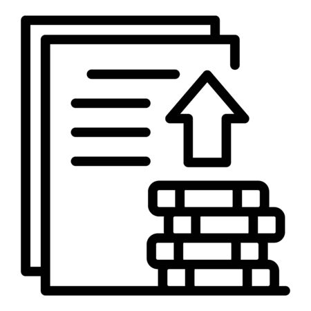 Money investor papers icon, outline style Иллюстрация